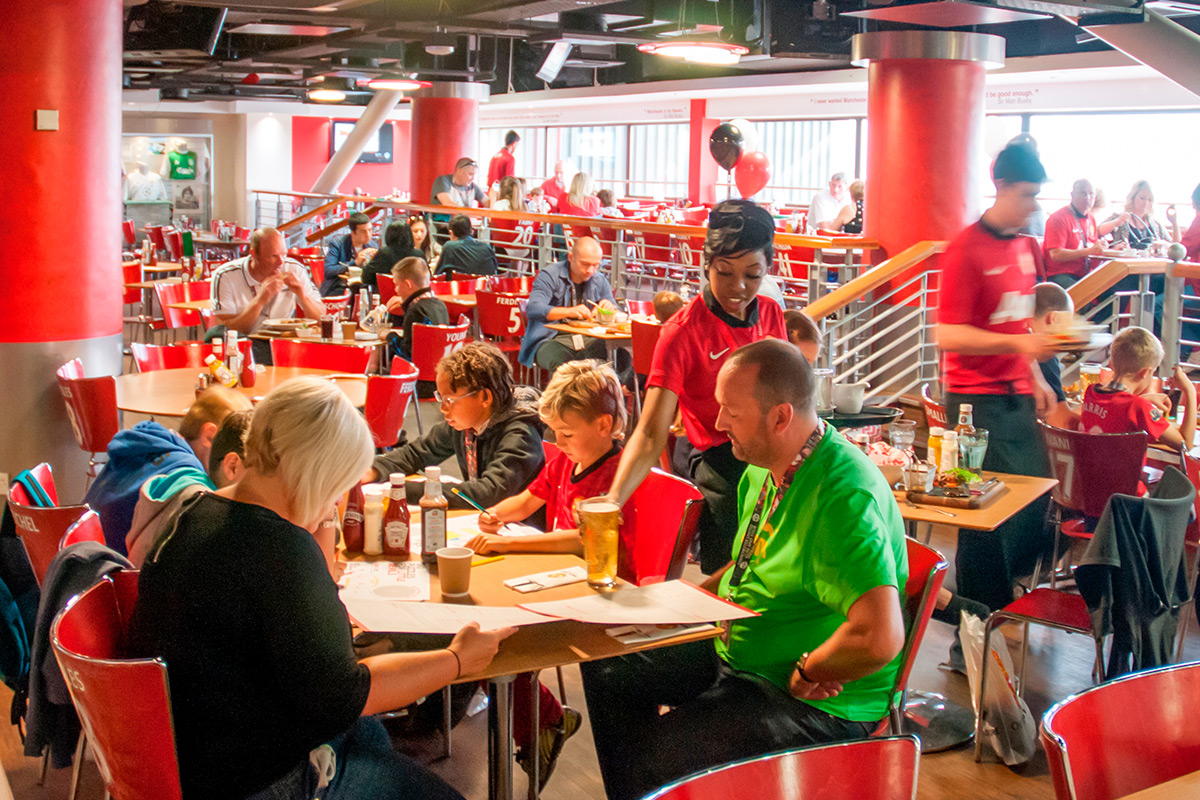 Manchester United Football Club Stadium Tour With Meal In