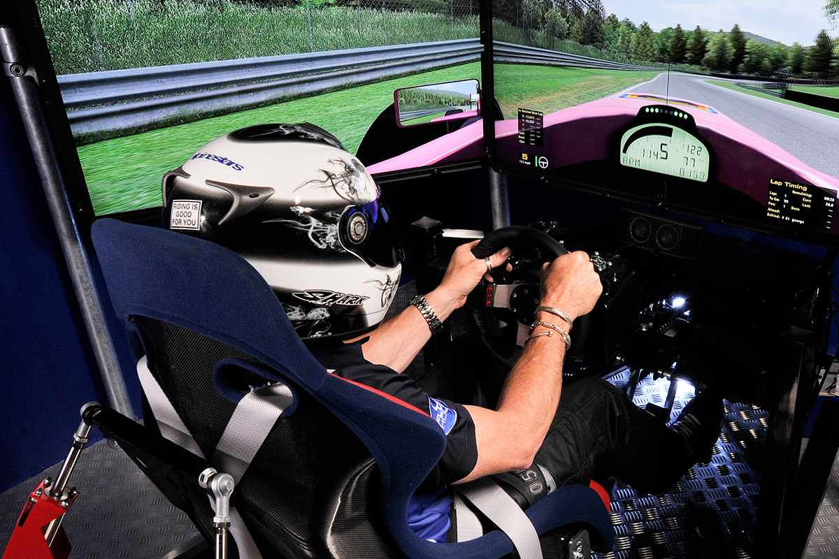 racing car simulator experience for two at the race room. Black Bedroom Furniture Sets. Home Design Ideas