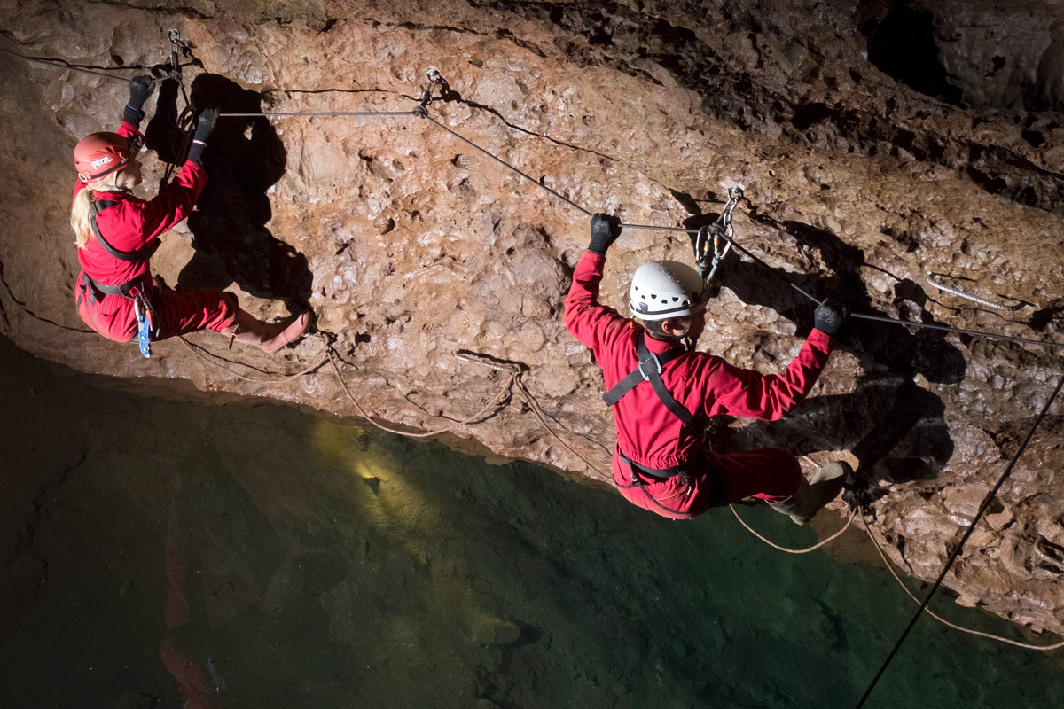 Adventure Caving Experience at Wookey Hole with Park Entrance for Two