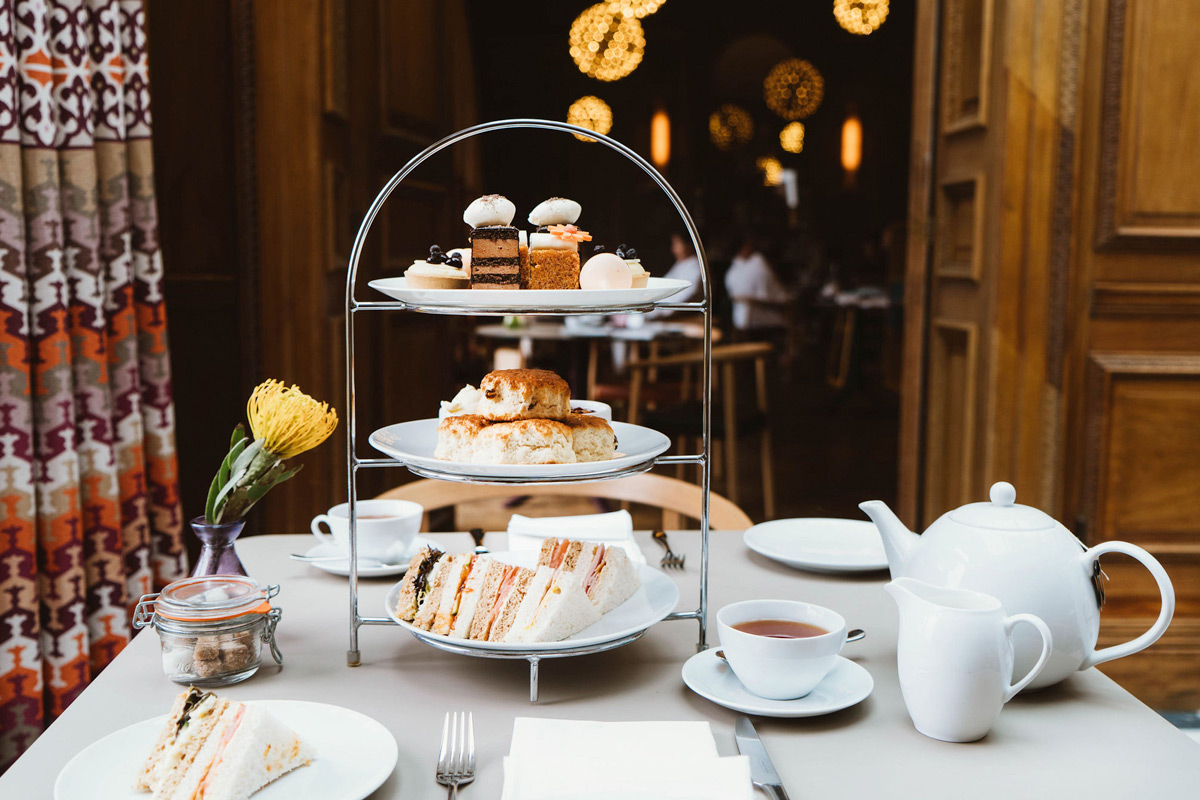 Afternoon Tea for Two at the Luxury Cowley Manor, Cotswolds
