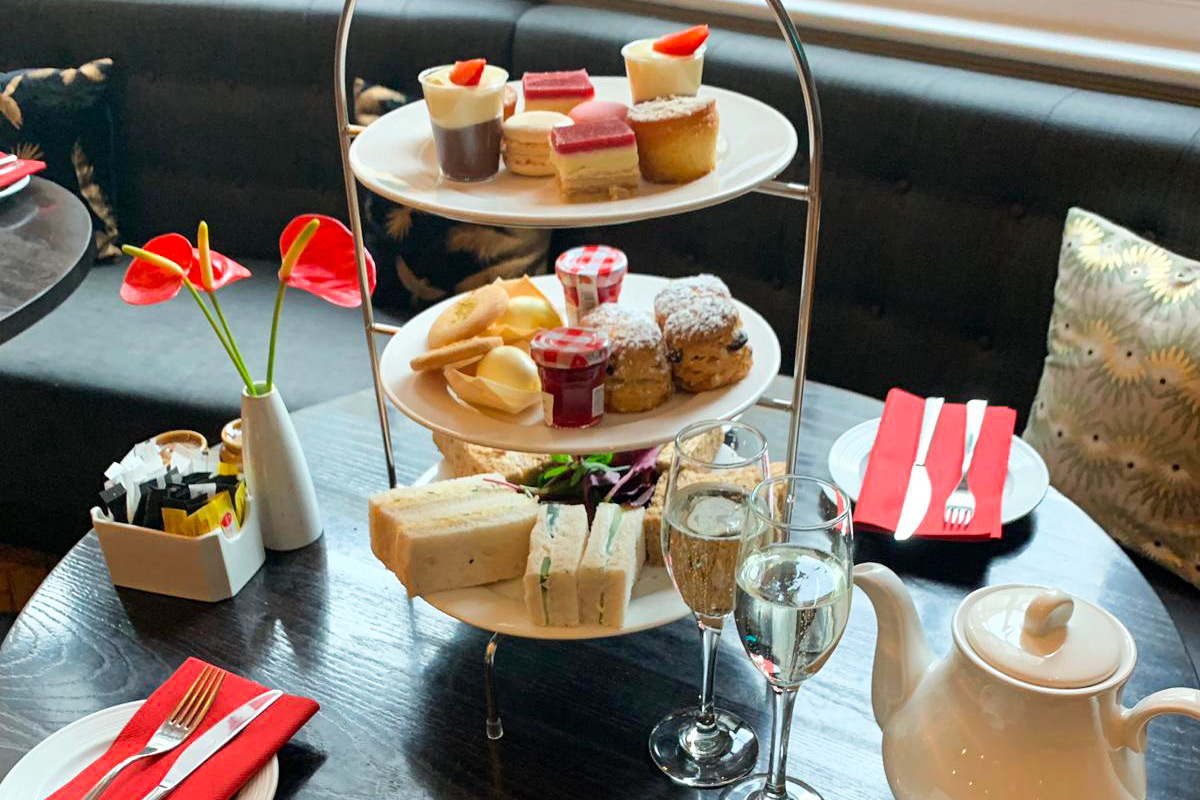 Champagne Afternoon Tea for Two at the Courthouse Hotel, London