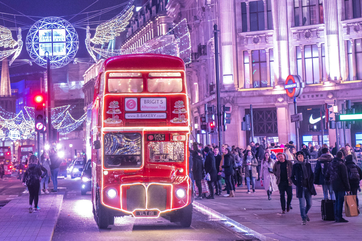 Christmas B Bakery London Vintage Afternoon Tea Bus Tour for Two