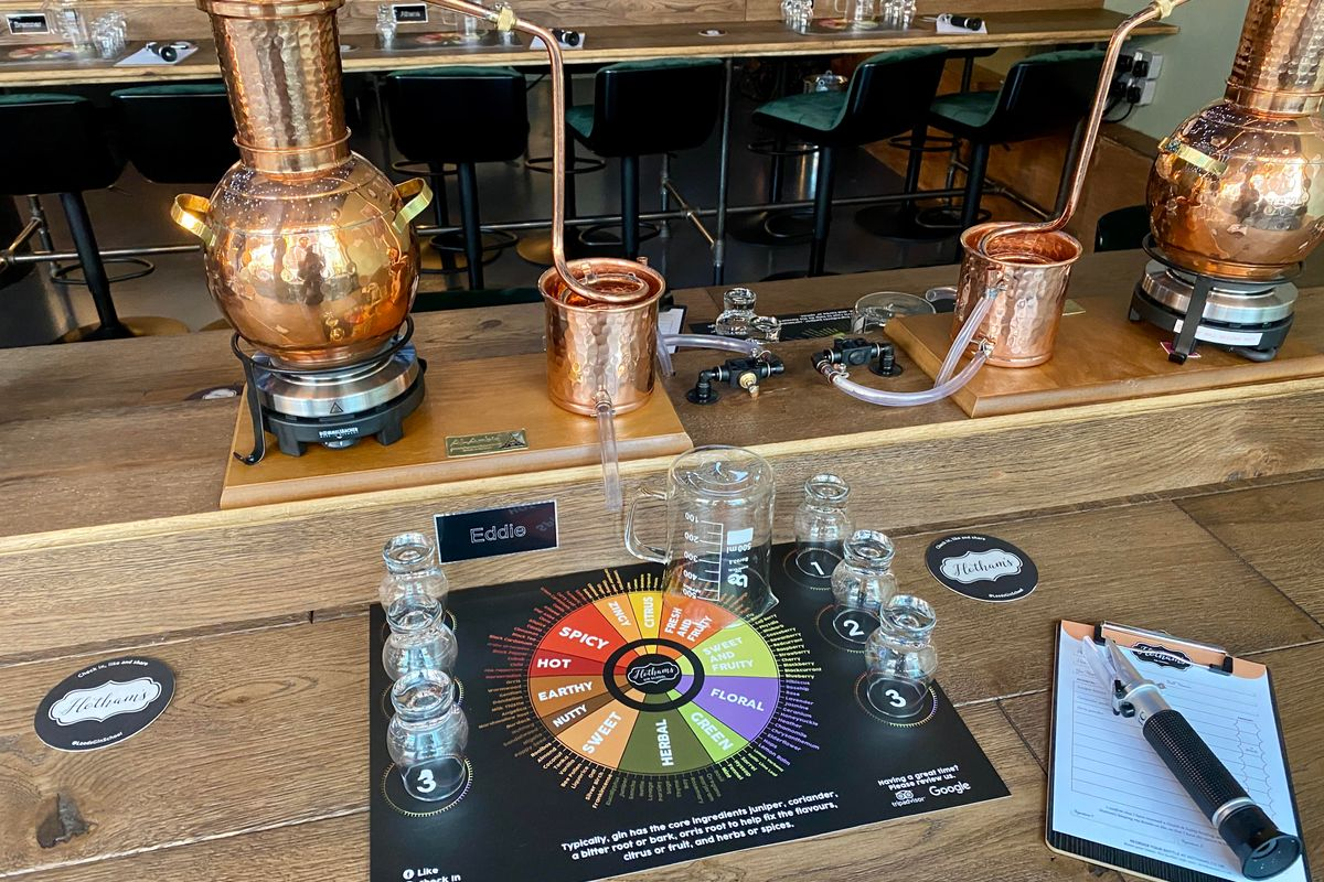 Distil Your Own Gin with Tastings and Cocktails for Two at Hotham's Gin School and Distillery, Leeds