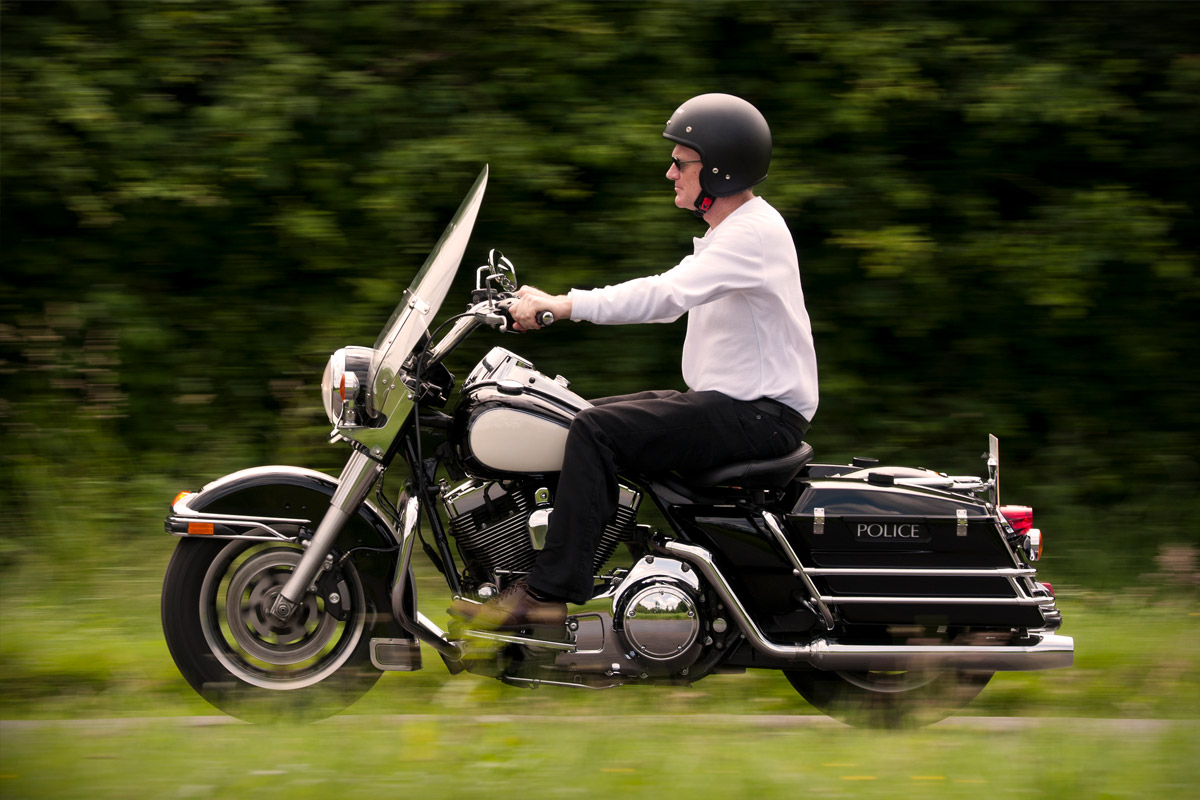 Half Day Ride Out on a Genuine USA Police Harley-Davidson