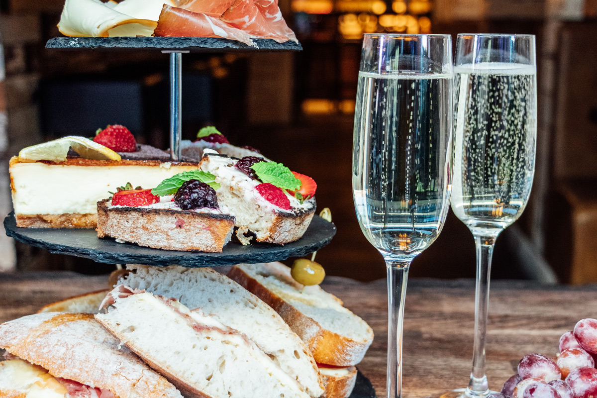 Italian Afternoon Tea with Prosecco for Two at Veeno Wine Café