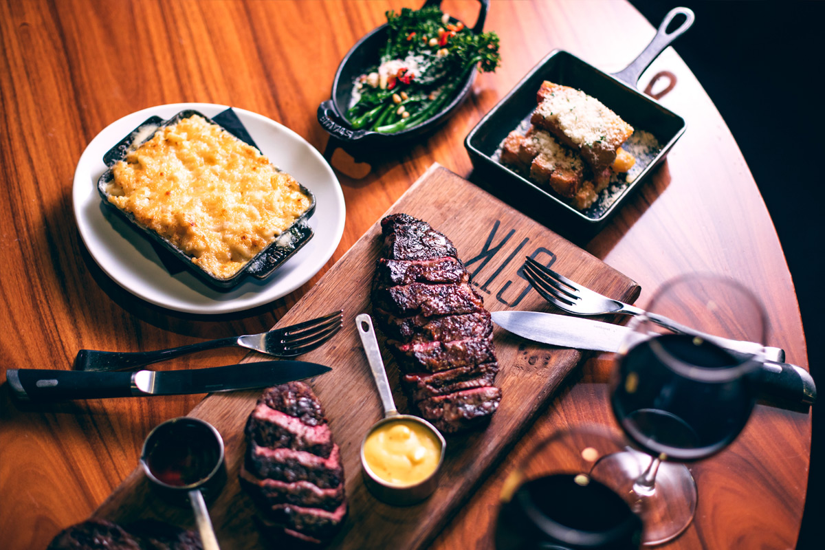 Luxury Three Course Dinner with a Glass of Champagne at STK Steakhouse, London
