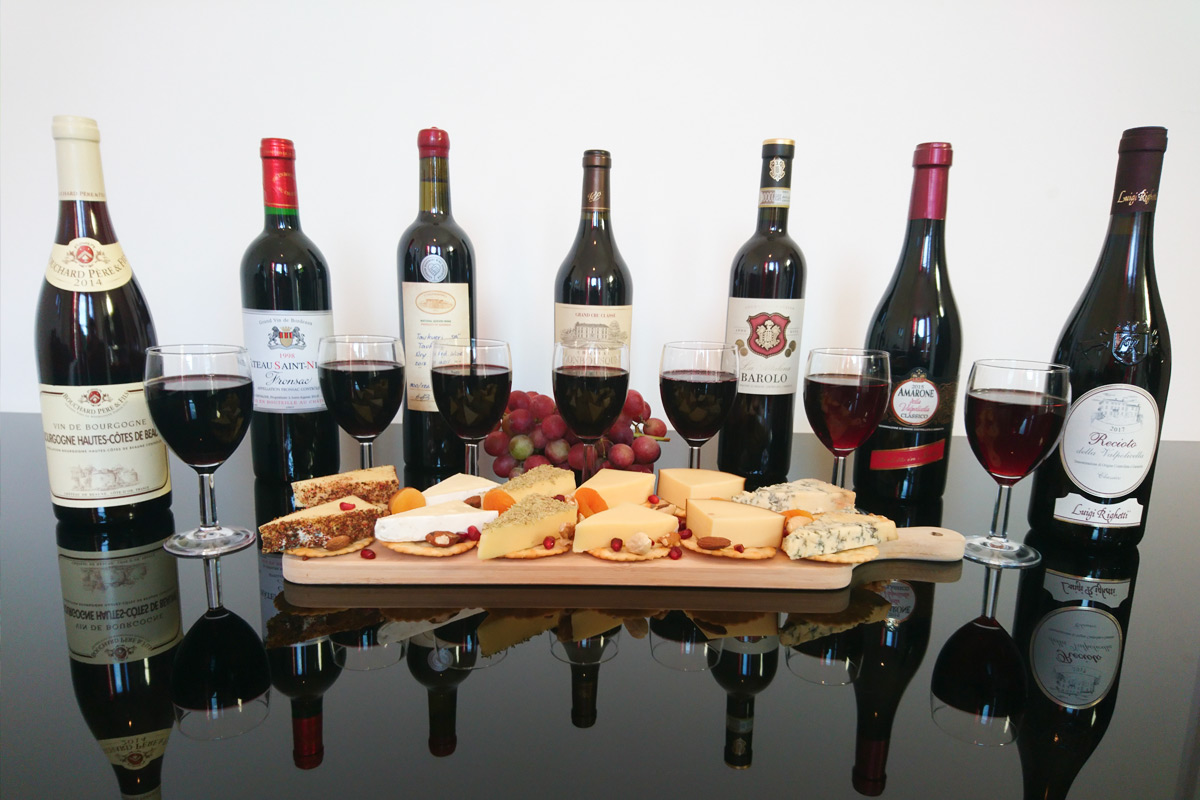 Luxury Vintage and Estate Red Wine and Cheese Tasting for Two