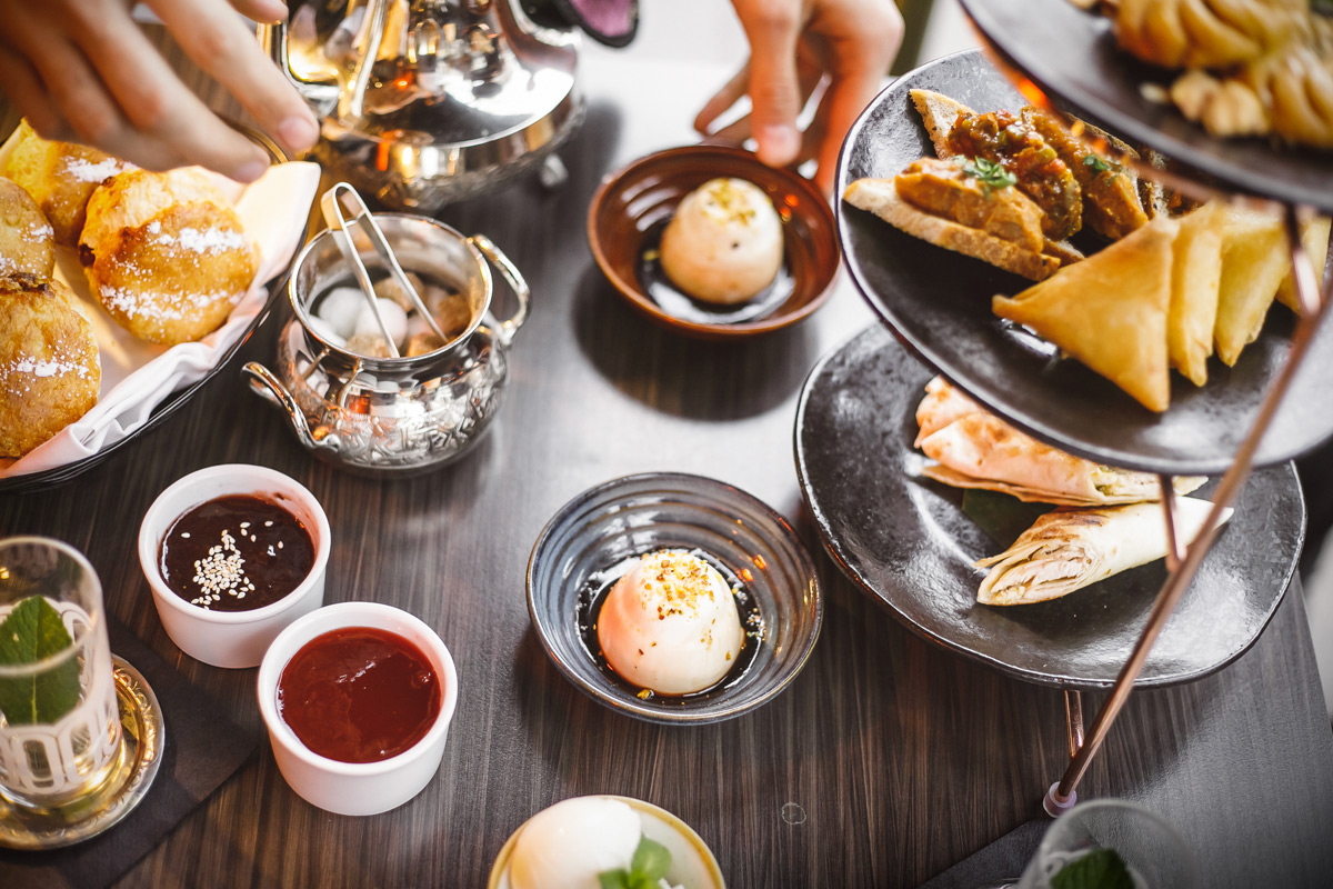 Middle Eastern Afternoon Tea with Champagne for Two at Mamounia Lounge, Knightsbridge