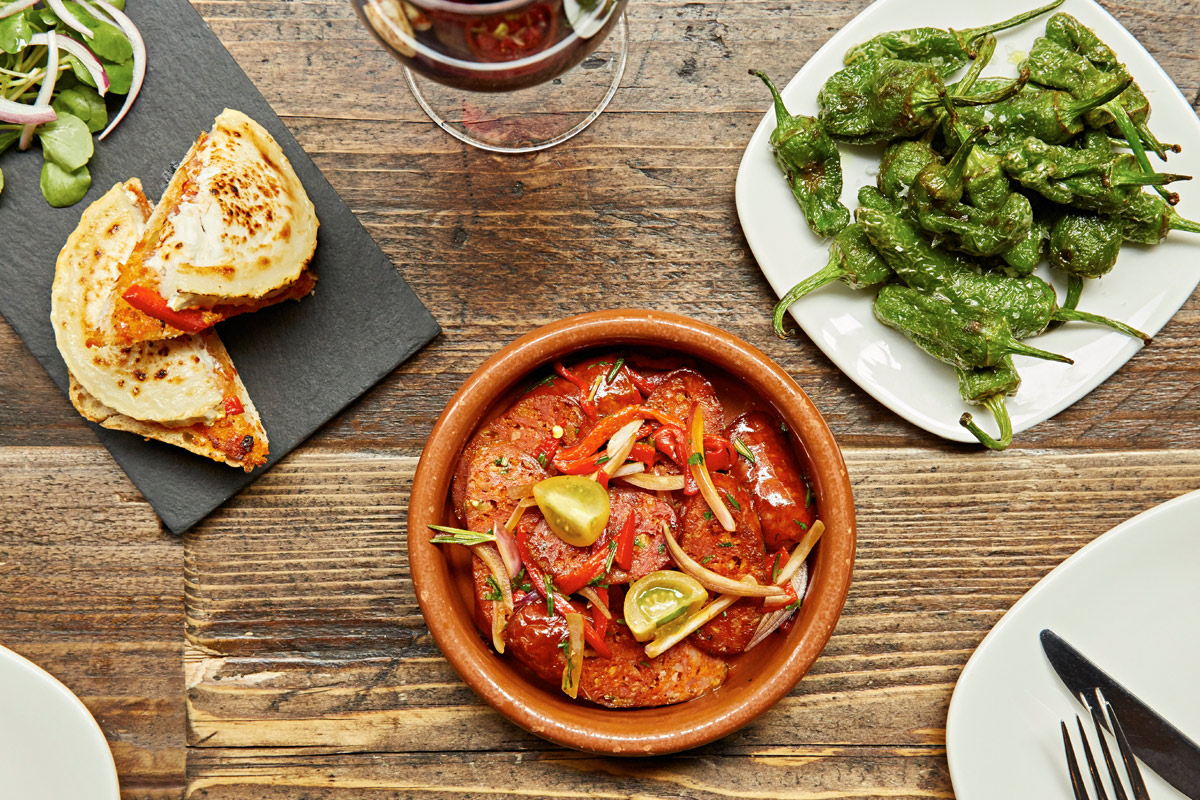 Sharing Spanish Tapas Meal for Two at Camino, London