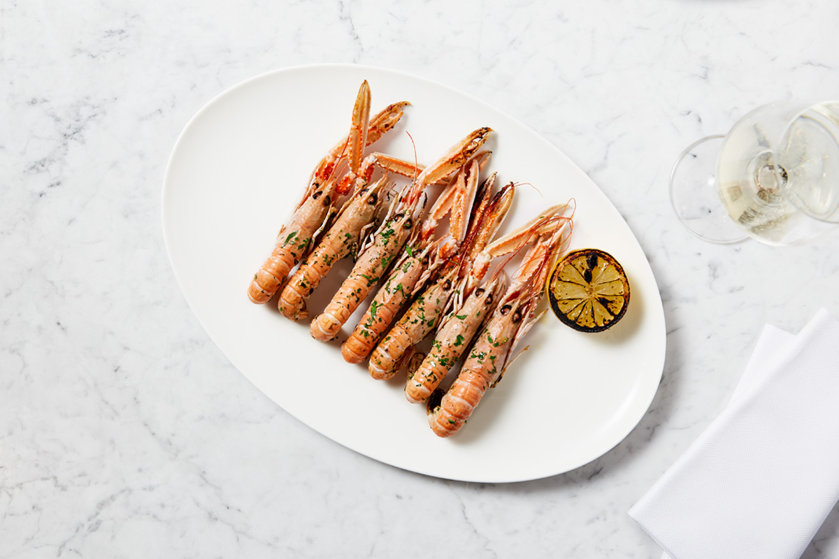 Three Course Lunch with Champagne for Two at The Fish Bar at Harrods