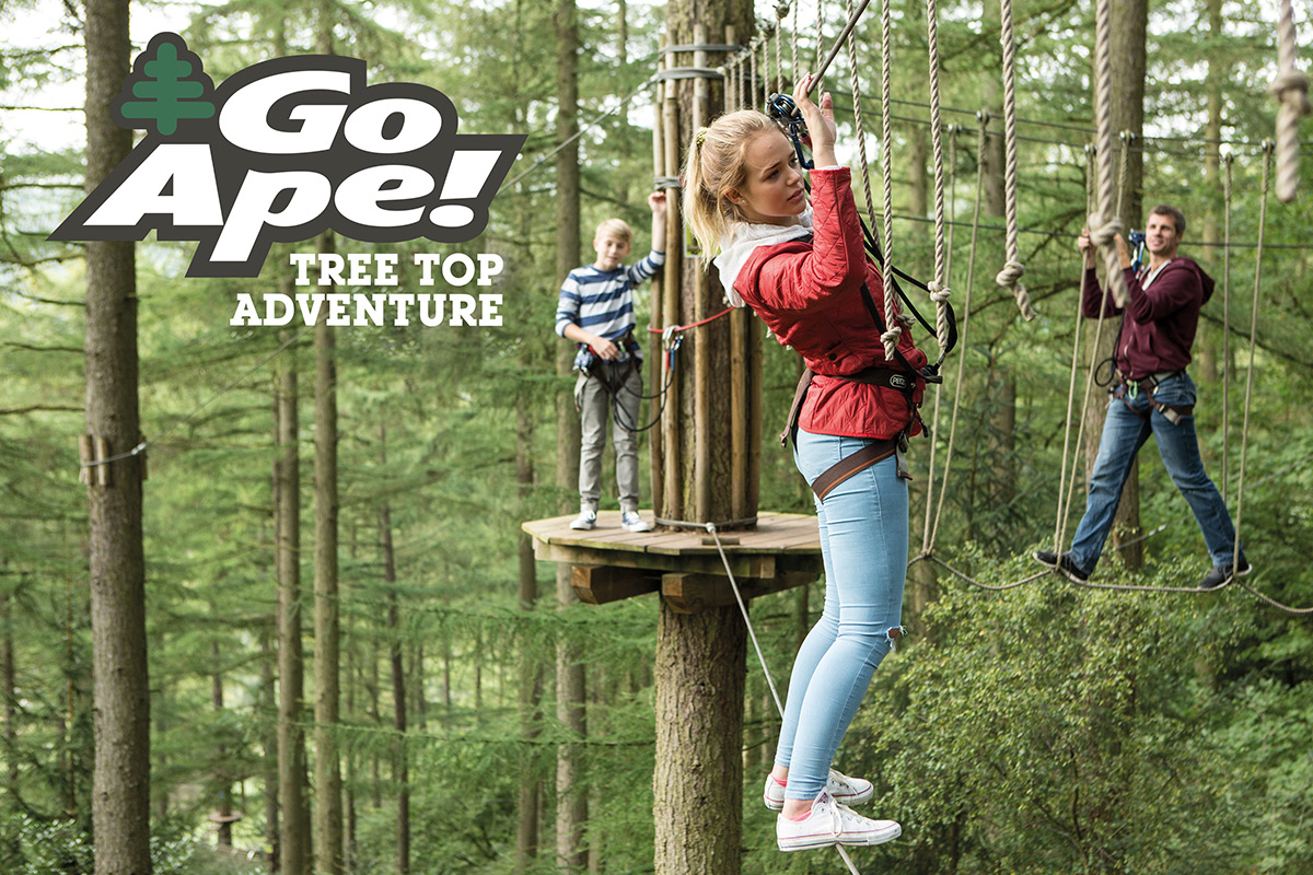 Tree Top Adventure for One Adult and Two Children with Go Ape