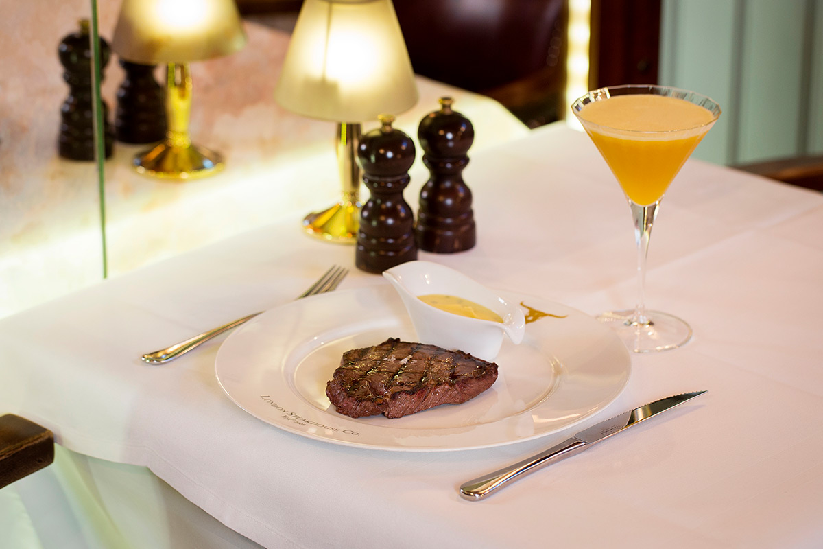 Two Course Dining Experience and Cocktail for Two at Marco Pierre White's London Steakhouse Co