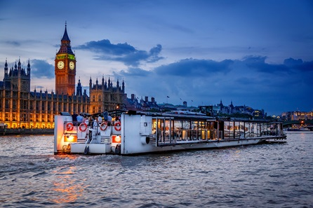 Bateaux London Thames Premier Dinner Cruise with Wine for Two