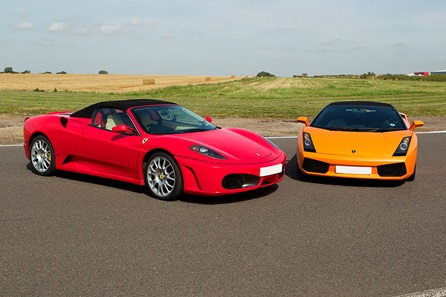 Double Supercar Thrill plus High Speed Passenger Ride and Photo