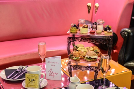 French Style Afternoon Tea with Sparkling Wine for Two at Cake Boy