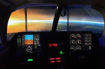 Private Jet Flight Simulator - 60 Minutes