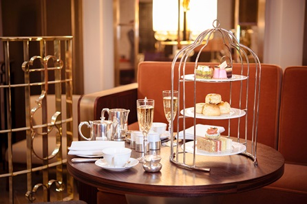 Signature Bird Cage Champagne Afternoon Tea for Two at the 5* Art Deco Sheraton Grand London, Park Lane