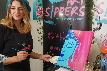 The Perfect Creative Night In - Live Virtual Art Experience and Drinks with Art Sippers