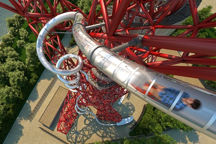 The Slide at ArcelorMittal Orbit with Cake and a Hot Drink for One Adult and One Child