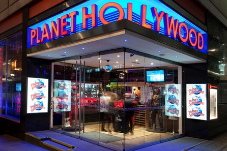 Three Course Meal with Wine for Two at Planet Hollywood, London