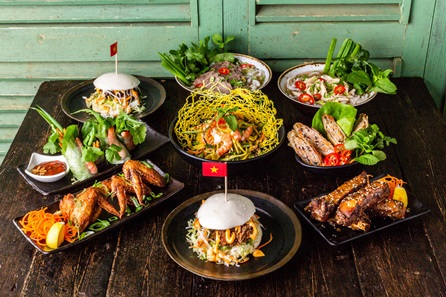 Vietnamese Street Food Dining Experience with Wine for Two at Viet Eat