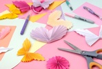 Create a Paper Craft Garland at Home with Peach Blossom